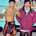 Master Pimu and The Great Fighter Thailand Pinsinchai on their visit to the Phraya Pichai Gym in UK