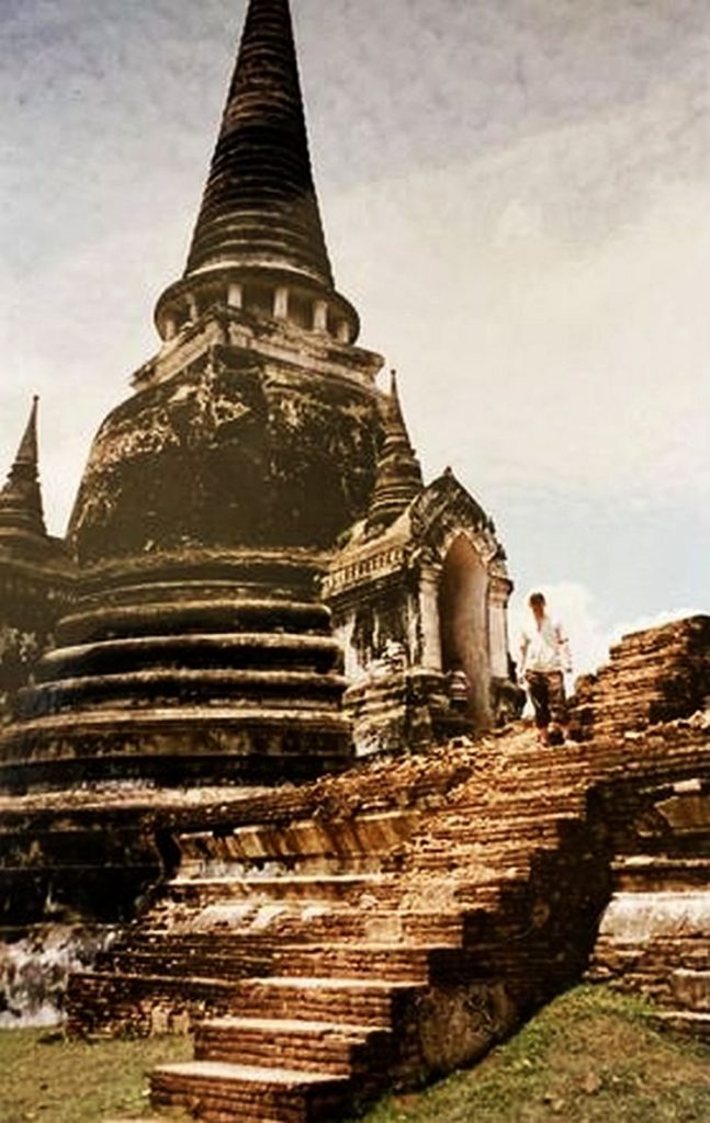 Image of main stupa in the ancient capital of Ayutthaya, Siam